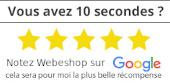 Notez mon entreprise WEBESHOP sur Google ! Un grand merci d'avance !